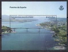 Spanien 2013  MiNr. 2785 (Block 237)  **/ Mnh ;  Brücken: Puento De Los Santos - Brücken