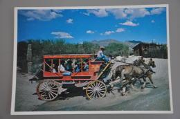 REF 304  : CPSM U.S.A. Old Tucson Arizona Western Cowboy Diligence Stage Coach - Tucson