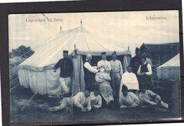 1912 Zeist Legerkamp De SCHEERSALON Langebalk 'Legerplaats Bij Ziest' & Groot Raderstempel DELFT-2  (z15) - Zeist