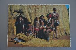 REF 304  : CPSM Afrique Du Sud Home Industry Deft Fingers Make Yards Of Cane Matting. Natal Femme Seins Nus - Südafrika