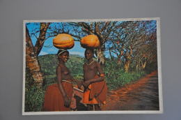 REF 304  : CPSM Afrique Du Sud West Pondoland The Transkei Femme Seins Nus Pasteque - South Africa