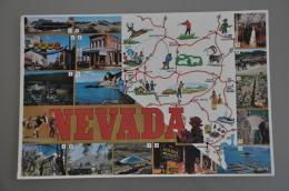 REF 304  : CPSM U.S.A. Nevada Carte De L'état Contour De Pays - Etats-Unis
