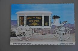 REF 304  : CPSM U.S.A. Virginia City Bucket Of Blood Dead Wagon - Etats-Unis