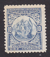 El Salvador, Scott #181, Mint Hinged, Allegory Of Central American Union, Issued 1898 - Salvador