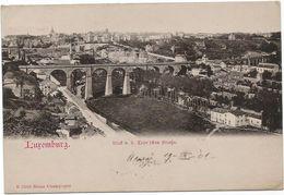Z3792 Luxemburg Luxembourg - Blick Der Stadt Mit Brücke - Nice Stamps Timbres Francobolli / Viaggiata 1901 - Lussemburgo - Città
