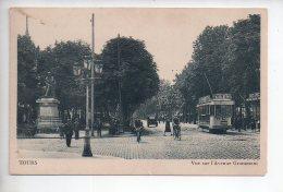 REF 294  : CPA 37 TOURS Vue Sur L'avenue Grammont Beau Plan Tramway - Tours