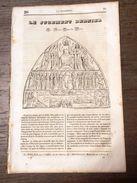 FEUILLET LA MOSAIQUE 1836 JUGEMENT DERNIER NOTRE DAME DE PARIS LES TOTEMS INDIENS TOTEM - Oude Documenten