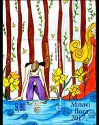 BOSNIA CROAT, 2017, MNH,NARCISSUS, FLOWERS, S/SHEET - Fairy Tales, Popular Stories & Legends