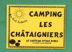 CAMPING LES CHATAIGNIERS 07260 RIBES /  AUTOCOLLANT - Autocollants