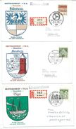 Coat Of Arms > Covers.Lot - 13 Covers From Germany Cities.5 Scans - Enveloppes