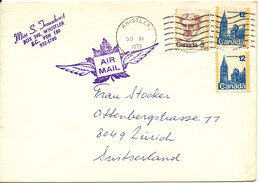 Canada Cover Sent Air Mail To Switzerland Whistler 30-11-1979 - 1952-.... Elizabeth II
