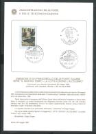 1987 ITALIA BOLLETTINO ILLUSTRATIVO N. 9 ALCOLISMO - 6. 1946-.. Republic