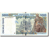 West African States, 5000 Francs, 1997, 1997, KM:713Kf, TB+ - West African States