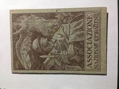 T2 - Tessera Associazione Nazionale Combattenti 1938 - Historical Documents