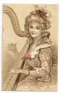7 - Jeune Dame Jouant De La Harpe - Donne
