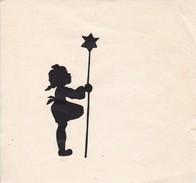 Orig. Scherenschnitt - Mädchen Mit Stern - Sternsinger - Ca. 1950 - 7*3cm (Abbildung) (30132) - Scherenschnitte