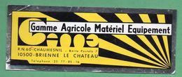 GAME 10500 BRIENNE LE CHATEAU - GAMME AGRICOLE MATERIEL EQUIPEMENT  /  AUTOCOLLANT - Autocollants
