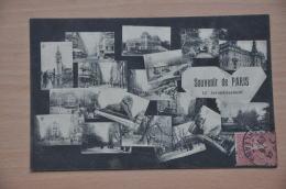 REF 300  : CPA 75 014 XIV 14ème Arrondissement Multivues - District 14