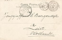 Fr. Somalis 1905 Djibouti Ligne N Paq. FR. No. 2 To Zeist Netherlands Viewcard - Côte Française Des Somalis (1894-1967)