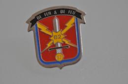 REF M4  : Pin's Pin  : Militaria Base Aérienne B2 57 De Feu Et De Feu - Militaria