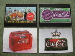 SET OF 4 COCA COLA COLLECTION CARDS ( Scan Recto/verso ) - Non Classés
