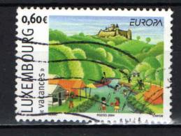 LUSSEMBURGO - 2004 - EUROPA: VACANZE IN LUSSEMBURGO - USATO - Oblitérés