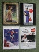 SET OF 4 COCA COLA COLLECTION CARDS ( Scan Recto/verso ) - Autres Collections