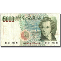 Italie, 5000 Lire, 1985, KM:111b, 1985-01-04, TTB+ - [ 2] 1946-… : République