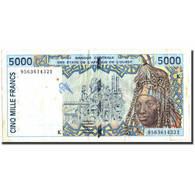 West African States, 5000 Francs, 1995, 1995, KM:713Kd, TB+ - West African States