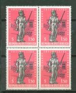 Austria - 1963 , 150 Jahre Freiwillige Feuerwehren, Viererblock, MNH** - 1961-70 Nuovi & Linguelle