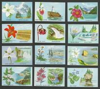 B45-60 CANADA Provincial Flowers & Scenes Set Of 12 MNH Bileski - Local, Strike, Seals & Cinderellas
