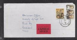 S.Africa, Domestic  Cover,EXPRESS, UMKOMAAS 13 I 81 C.d.s., DURBAN R.L.S. Transit, DEPOT RONDEBOSCH 3. Arrival - Covers & Documents