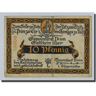 Allemagne, Prien, 10 Pfennig, Paysage, 1920, 1920-12-01, SUP+, Mehl:1074.2 - Alemania