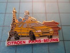 Pin615D Pin's Pins : Rare Et Belle Qualité ARTHUS BERTRAND / CITROEN XANTIA RALLYE PARIS PEKIN - Arthus Bertrand