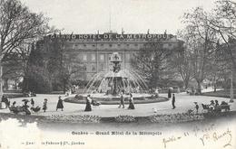 Genève - Grand Hôtel De La Métropole, Fontaine - Carte Charnaux Frères - Hotels & Restaurants
