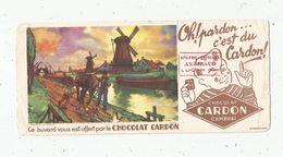 Buvard , Chocolat CARDON , CAMBRAI , Moulins , Cheval , Péniches - Buvards, Protège-cahiers Illustrés