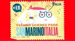 ITALIA - Usato - 2015 - Parco Scientifico Tecnologico San Marino-Italia - Robot - 0,95 - Vedi ... - 6. 1946-.. Repubblica