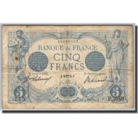 France, 5 Francs, 5 F 1912-1917 ''Bleu'', 1905, E.Picard-J.Laferrière, KM:70 - 1871-1952 Circulated During XXth