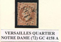 FRANCE- Y&T N°23- GC 4158A (VERSAILLES QUARTIER NOTRE DAME 72) - Marcophilie (Timbres Détachés)