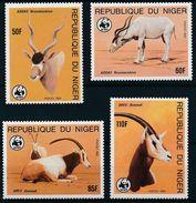 WWF Niger Desert Antelopes Wüstenantilopen Addax Oryx 1985 4v MNH - Unused Stamps