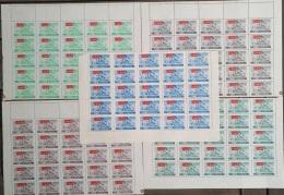 I20 - Yemen Kingdom ROYALIST 1964 SG R39/R43 Complete Set 5v. Cv 300$ Sheets/25 - The Patriotic War, Troops Army Flags - Jemen