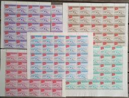I20 - Yemen Kingdom ROYALIST 1963 SG R33/R37 Complete Set 5v. - Red Cross Centenary - X 25 Sets - Jemen