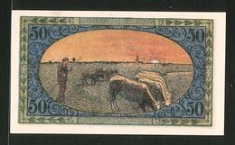 Notgeld Tondern 1920, 50 Pfennig, Stadtwappen, Bauer Mit Rindern - Dänemark