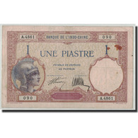 FRENCH INDO-CHINA, 1 Piastre, Undated (1927-31), KM:48b, TB+ - Indochine