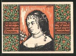 Billet De Nécessité Oranienbaum In Anhalt 1922, 50 Pfennig, Kirchturm Et Stadtwappen, Katharina Von Oranien - [11] Emisiones Locales