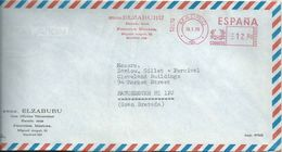 Ema Pitney Bowes : Rue Michel Ange - Lettre De Madrid Pour La Grande Bretagne - 1931-Today: 2nd Rep - ... Juan Carlos I