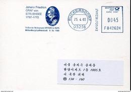 23130 Germany  , Red Meter/freistempel/ema/2003, Medical Doctor Johann Friedrich Graf Von Struensee (1737-1772) - Medicine