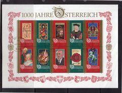 1996 1000 Jahre Österreich Used Block (o246) - Blokken & Velletjes