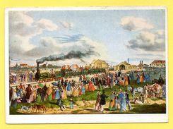Première Ligne De Chemin De Fer Munich-Augsburg 1839. Litho  Gustav Wilhelm  Kraus - Gares - Avec Trains