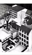 BRUXELLES (1040) - Enseignement : Maquette Des Extensions De L'Institut De L'Enfant-Jésus, Rue Général Leman à Etterbeek - Etterbeek